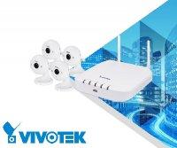 Vnitřní bezdrátový kamerový systém VIVOTEK 4x IP8160-W + ND8312W